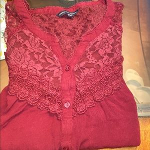 American Eagle Embroiled Detailed Top